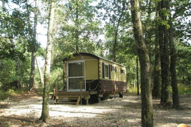 Camping avec roulottes